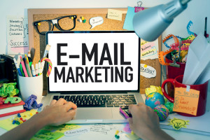 E-mail marketing business concept.